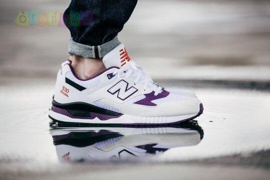 Мужские кроссовки New Balance 530 White/Purple
