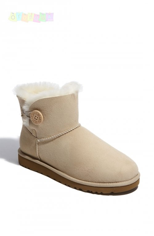 Женские угги UGG Bailey Button Mini Sand