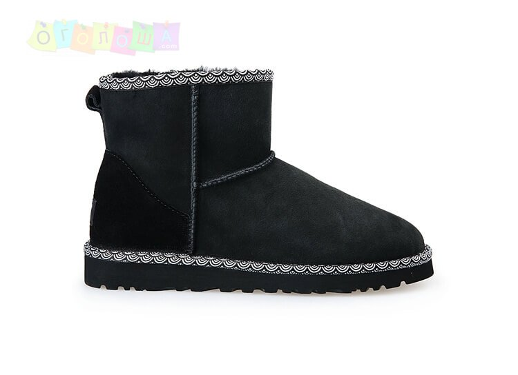 Женские угги UGG Classic Mini Liberty Black