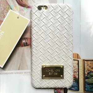Пластиковый чехол Michael Kors Woven White Белый для IPhone 6 Plus