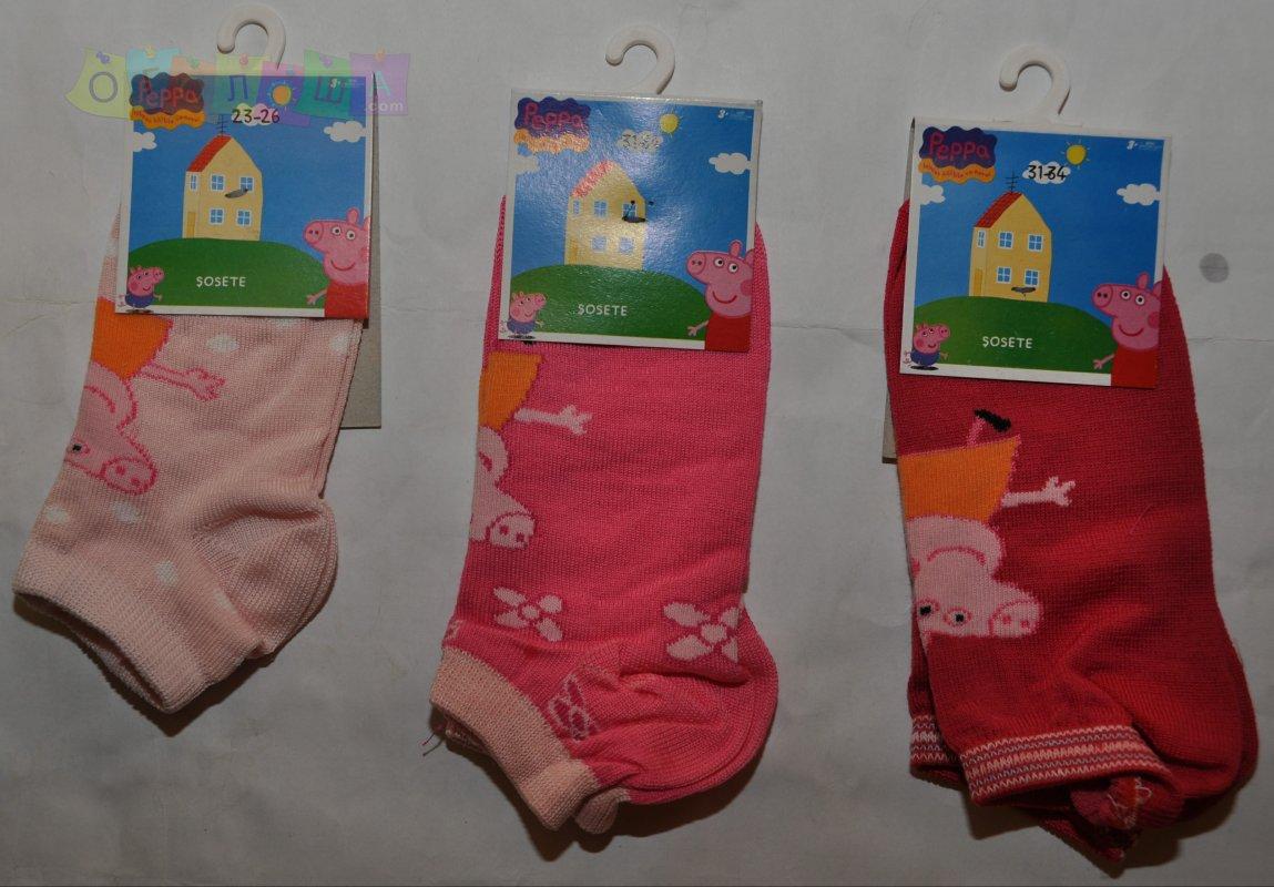 Детские короткие носки для девочек Peppa. Венгрия