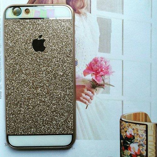 Пластиковый чехол с блестками Bling Шампань для iPhone 6
