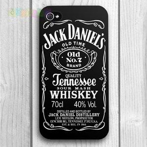Пластиковый чехол Jack Daniels Черный для IPhone 4/4s