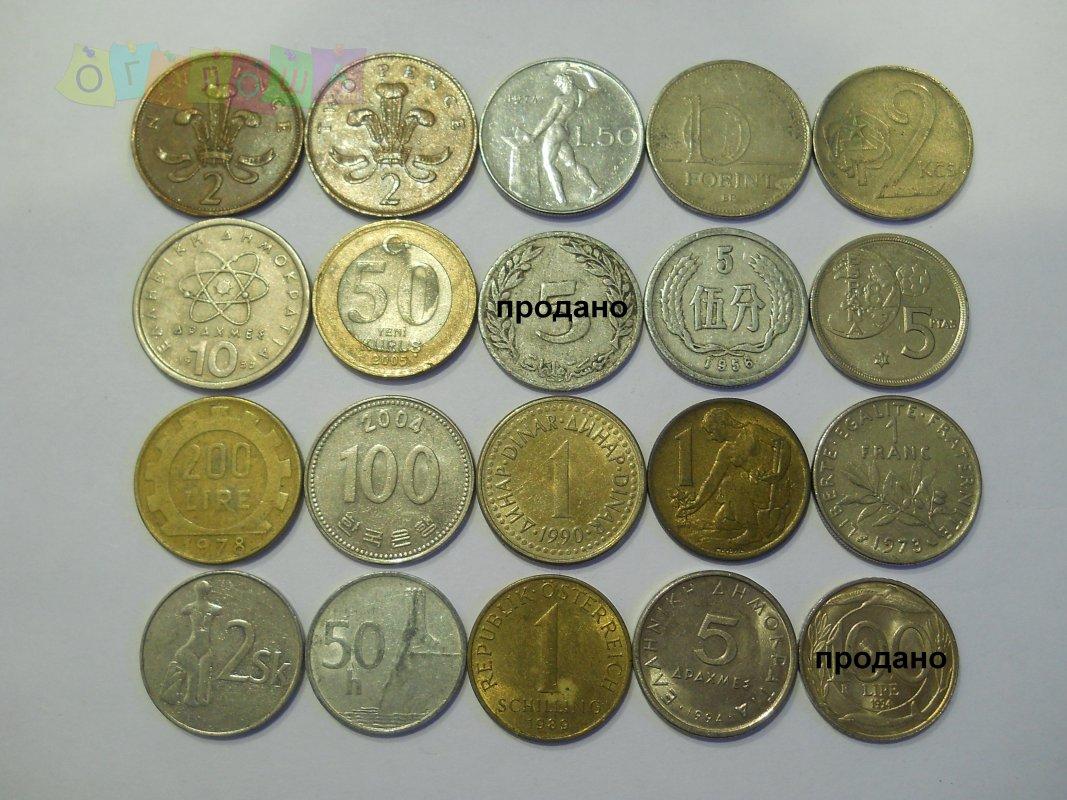 Монеты мира-6 грн./шт
