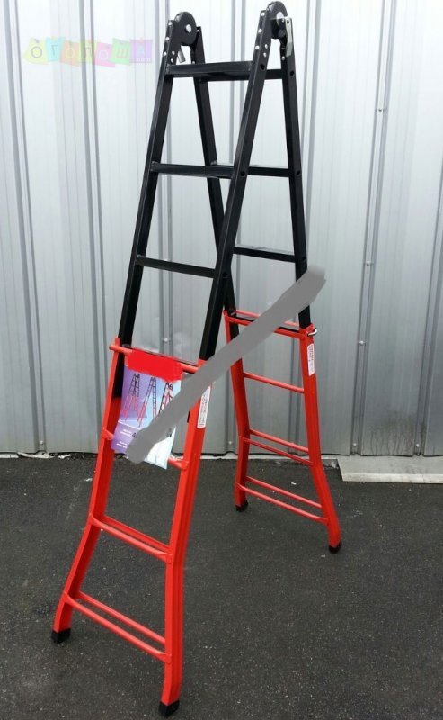 Телескопическая лестница стальная ПРАКТИКА RSL 4x4