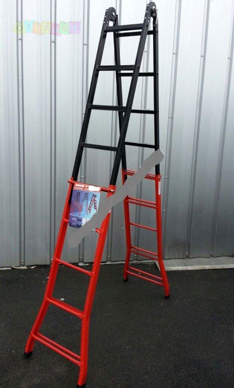 Телескопическая лестница стальная ПРАКТИКА RSL 4x5