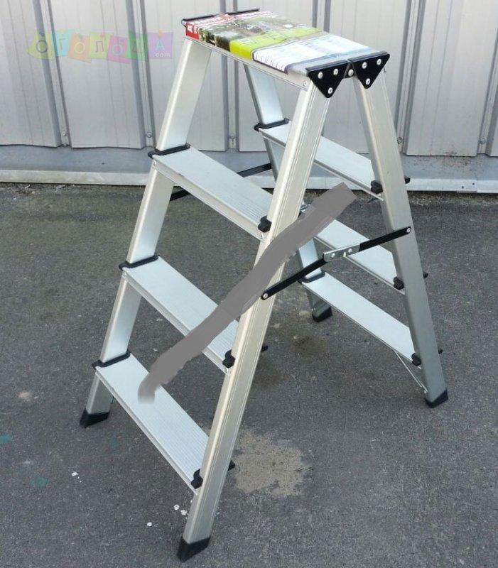 Двухсторонняя стремянка алюминиевая ПРАКТИКА 2x4 ступени