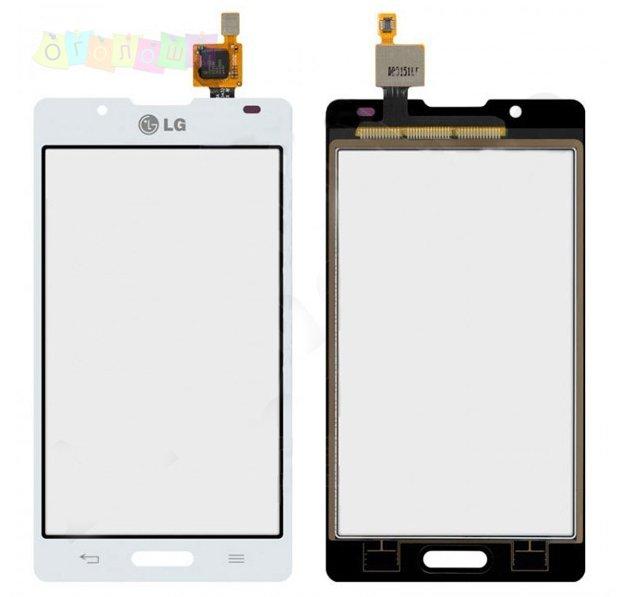 Тачскрин сенсор LG P710, P713, P714, Optimus L7 II, Optimus L7X белый Оригинал
