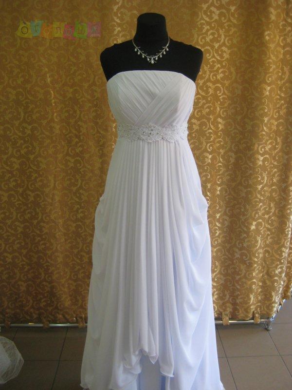 Свадебное платье ампир, 46, новое