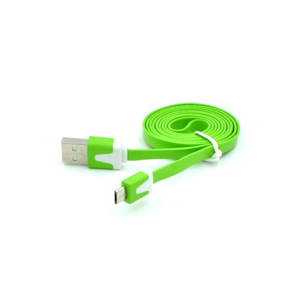 Плоский micro usb кабель 1м