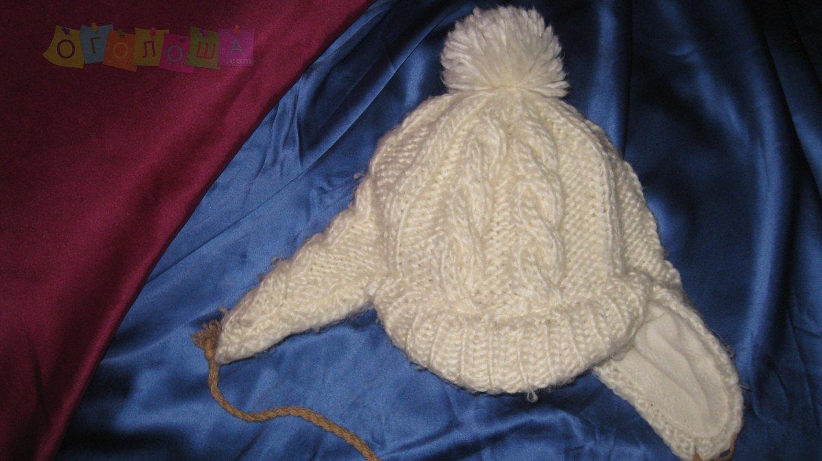шапка зимняя для девочки. Две вещи-доставка бесплатная