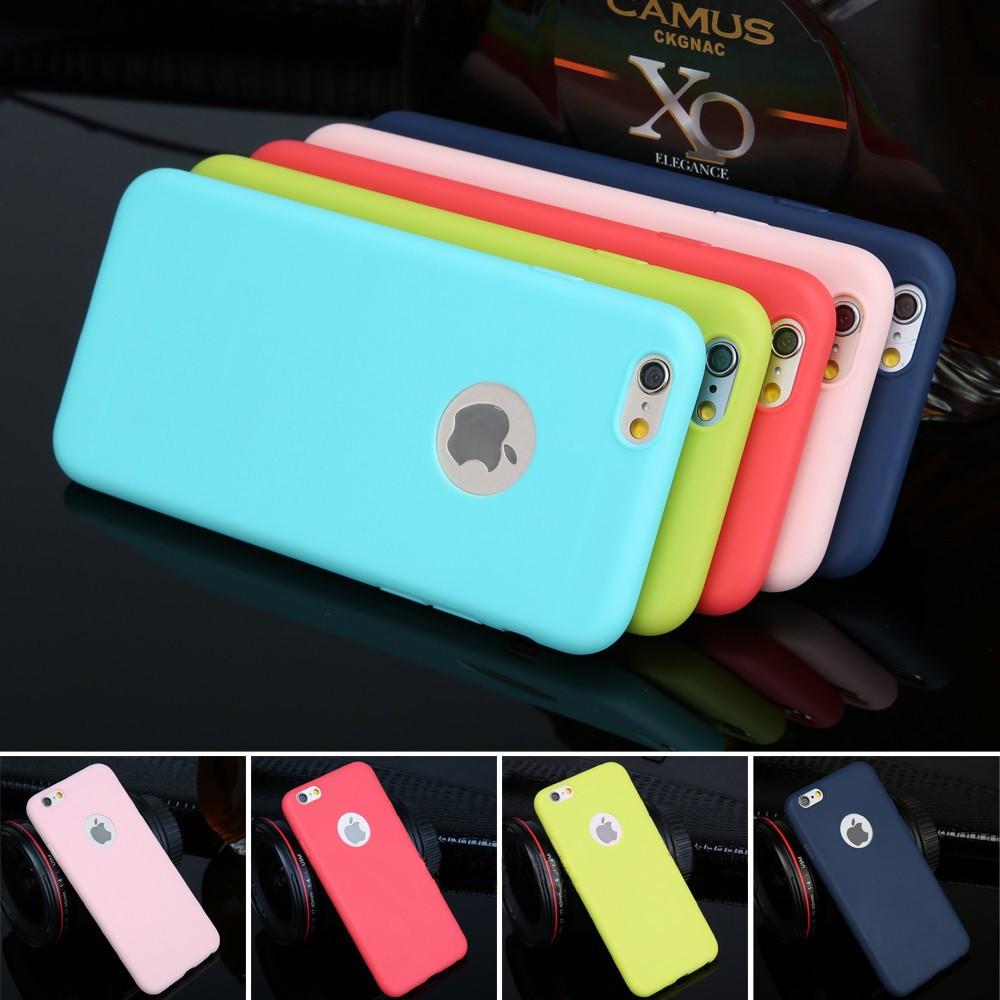 Матовый чехол из силикона Iphone 7