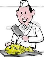 Раздельщик рыбы в супермаркет
