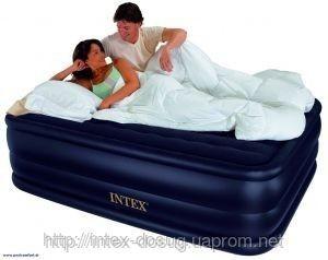 Надувная кровать Intex 66718 ИНТЕКС(152х203х56 см. ) Raised Downy…киев