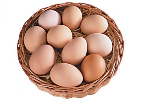 Недорого красивые белые куриные яйца категории c-0 и с-1