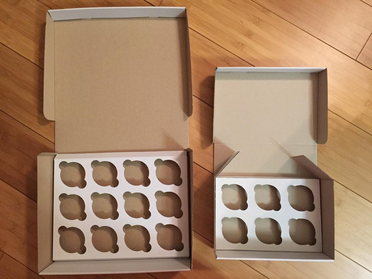 Коробки картонные для кексов (на 6 и 12шт)