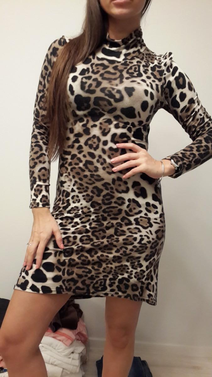 Брендовое леопардовое платье в стиле Dolche&Gabbana