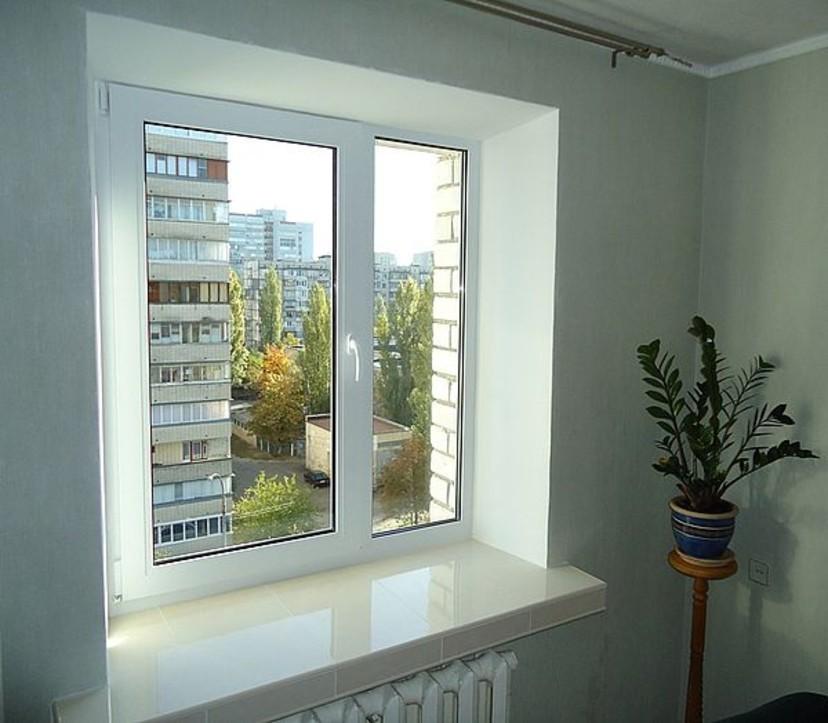 Декорируем откос вместо бывшего балконного блока.