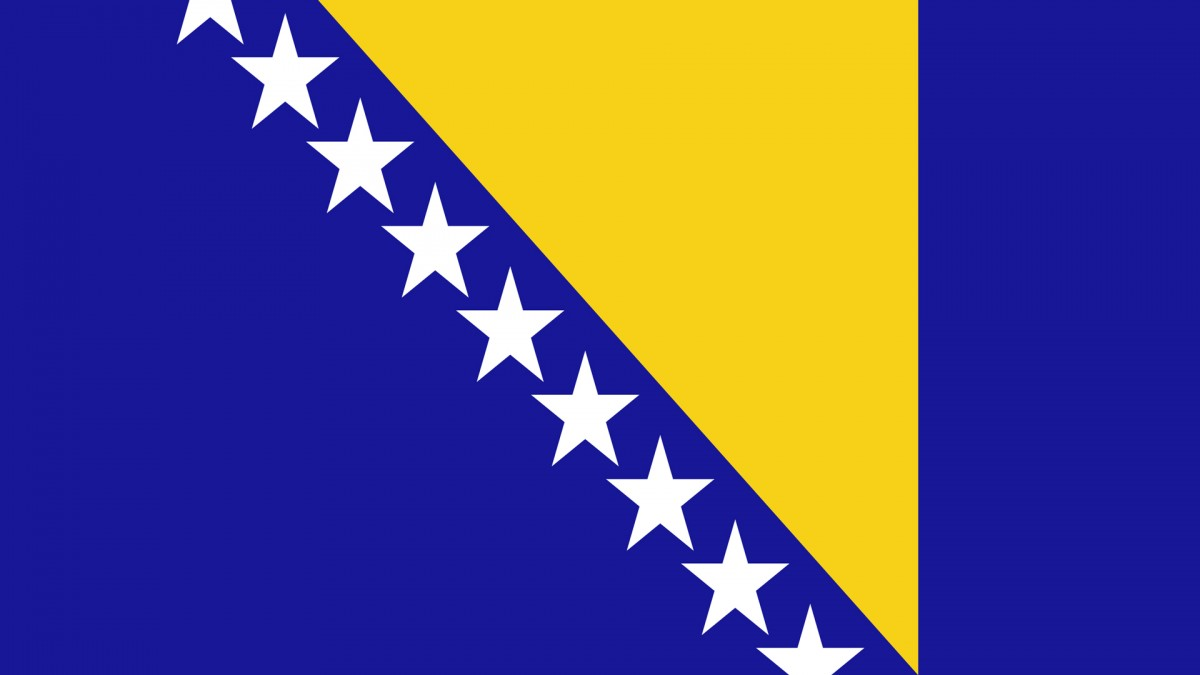Флаг Боснии и Герцеговины 150*90 см,интернет-магазин флагов стран Европы и мира
