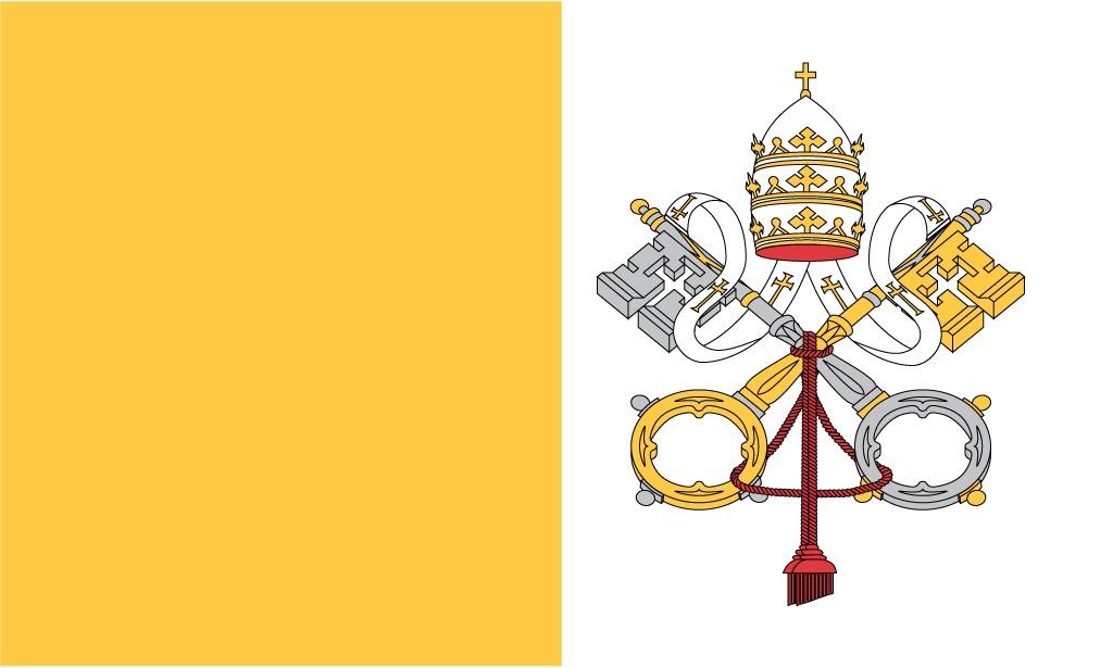 Флаг Ватикана / ватиканский / Ватикан 150*90 см, есть другие флаги стран Европы и мира