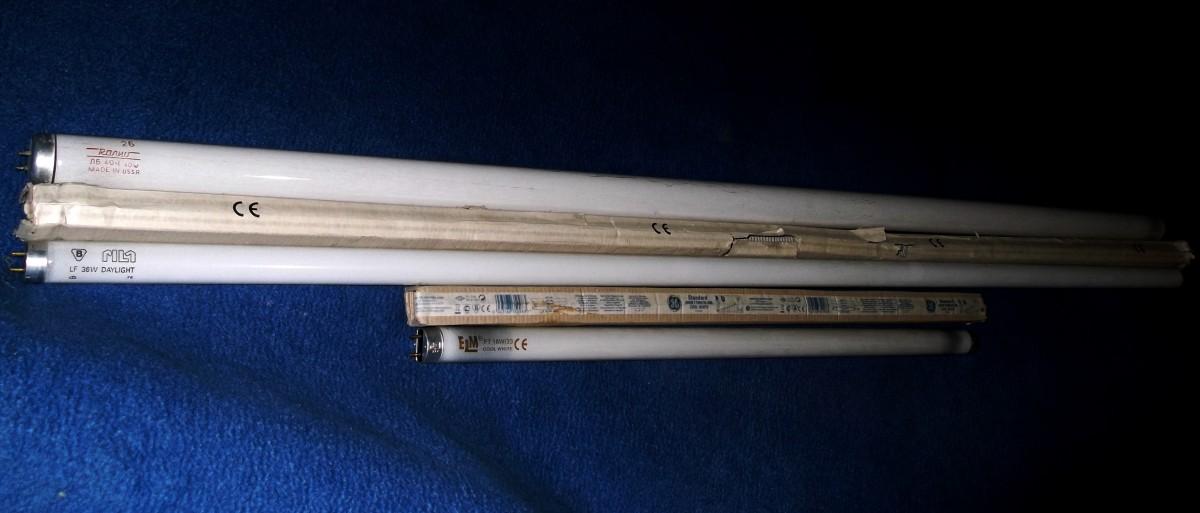 Люминесцентная лампа (трубчатая) (3 размера)