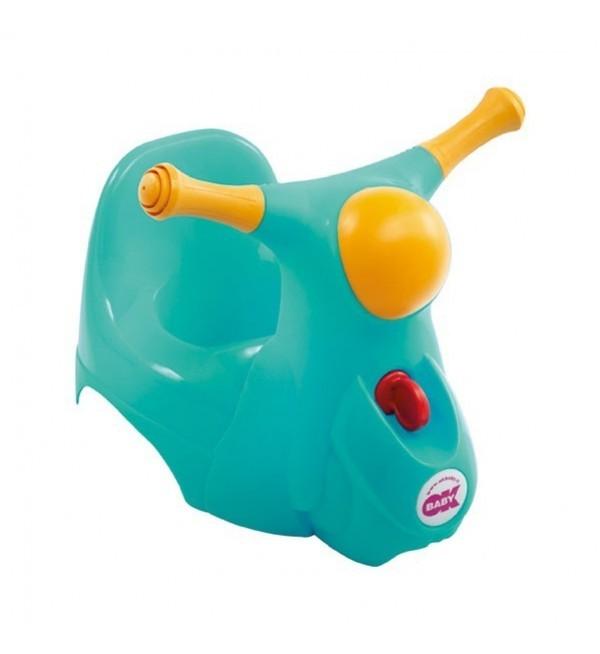 Детский Горшок Scooter Со Звуковой Фарой Ok Baby, Зеленый