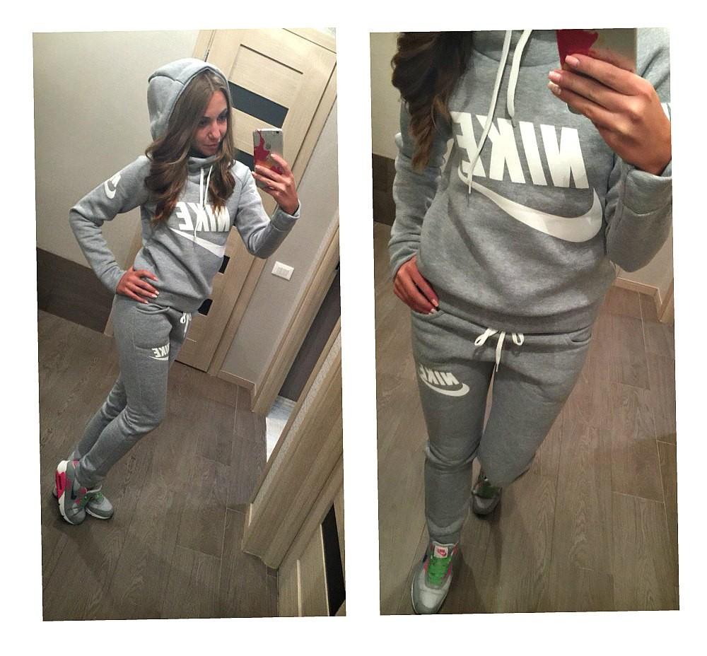 ЗИМА Теплые спортивные костюмы женские Nike жіночий костюм с начесом