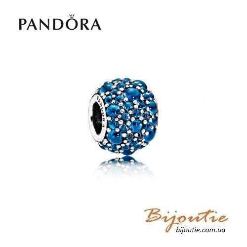 Шарм PANDORA синие мерцающие капли 791755NLB