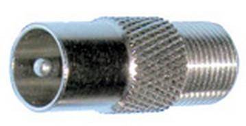 Штекер TV папа ( шт.ант.TV- гн.ант.F), gold pin, цинк 100шт/уп