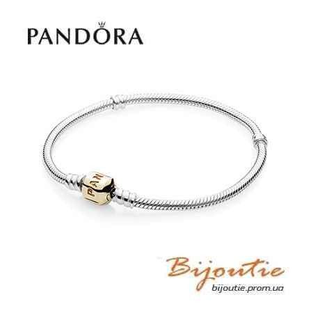 Браслет Pandora (основа) с замком из золота