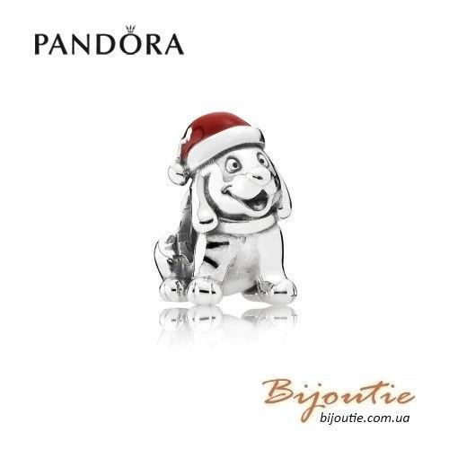 PANDORA Шарм ― рождественский щенок 791769EN39
