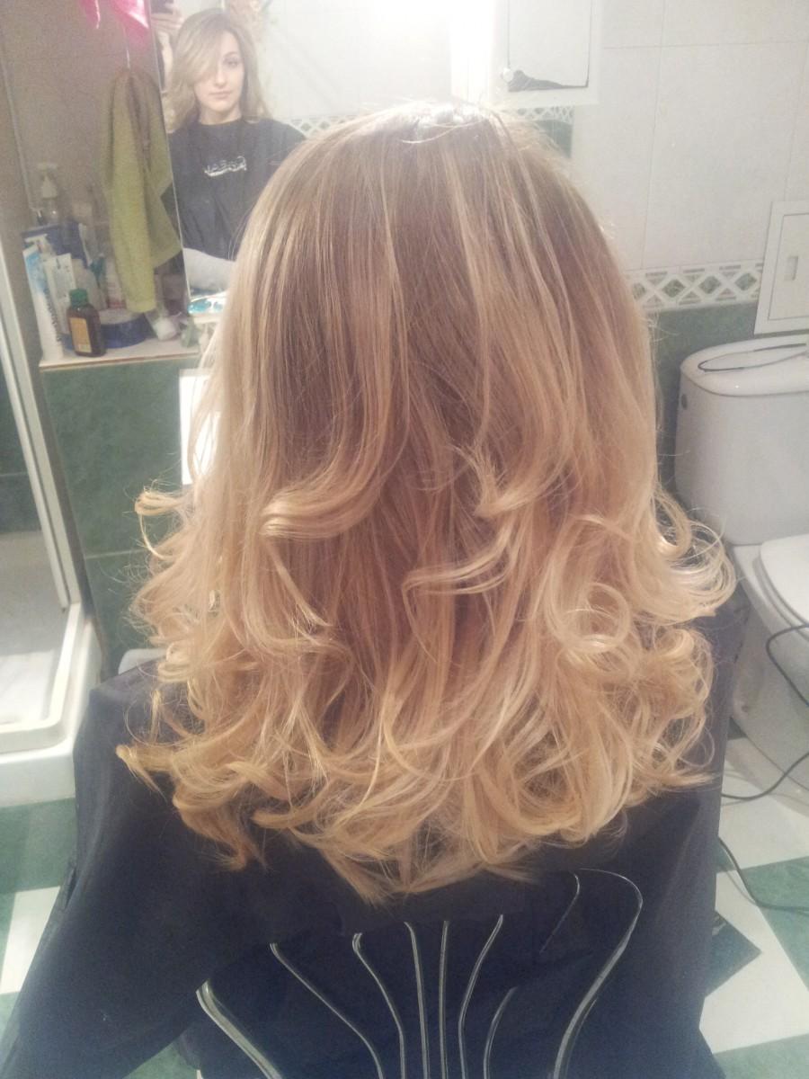 окрашивание омбре ботокс кератин полировка волос