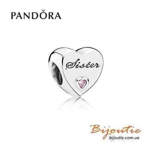 PANDORA шарм ― ЛЮБОВЬ СЕСТРЫ 791946РCZ Оригинал Пандора