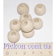 Деревянные бусины ракушка диаметр-14 мм