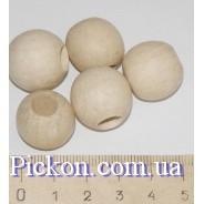 Деревянные бусины ракушка диаметр-18 мм