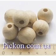 Деревянные бусины ракушка диаметр-20 мм