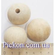 Деревянные бусины ракушка диаметр-32 мм