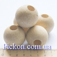 Деревянные бусины ракушка диаметр-34 мм