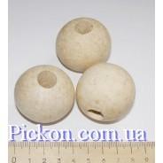 Деревянные бусины ракушка диаметр-40 мм