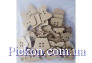 Набор деревянных пуговиц серии