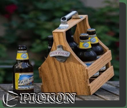 Пивная упаковка из дерева кол-во бутылок-4шт (модель P10(4))