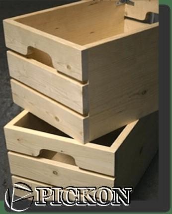 деревянный ящик для пива кол-во бутылок - 8шт (модель Y10(8))