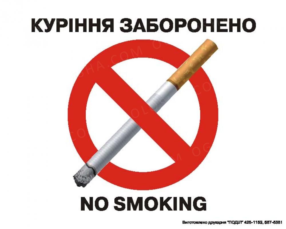 наклейки курение запрещено