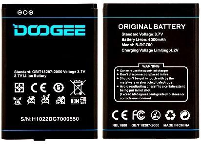 Doogee (B-DG700) 4000mAh Li-ion
