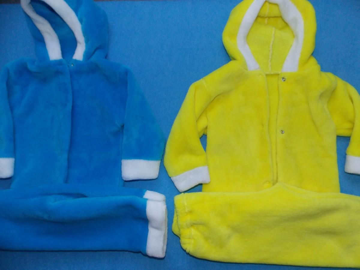 Теплые костюмчики для малыша 3-6 мес