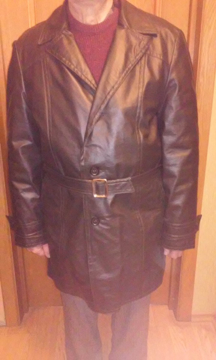 Мужская куртка (кожзам) черная