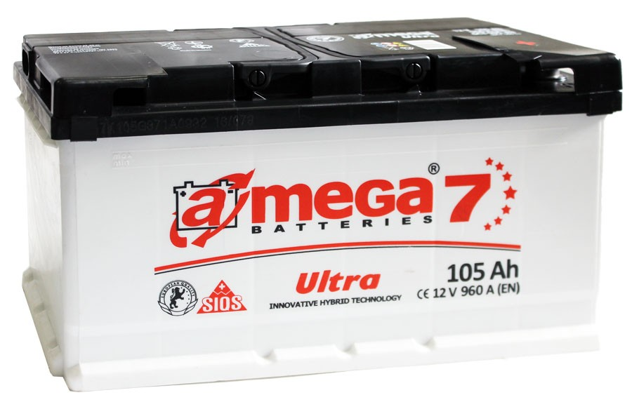 Автомобильный аккумулятор A-mega 6СТ-105Ah АзЕ R+ Ultra