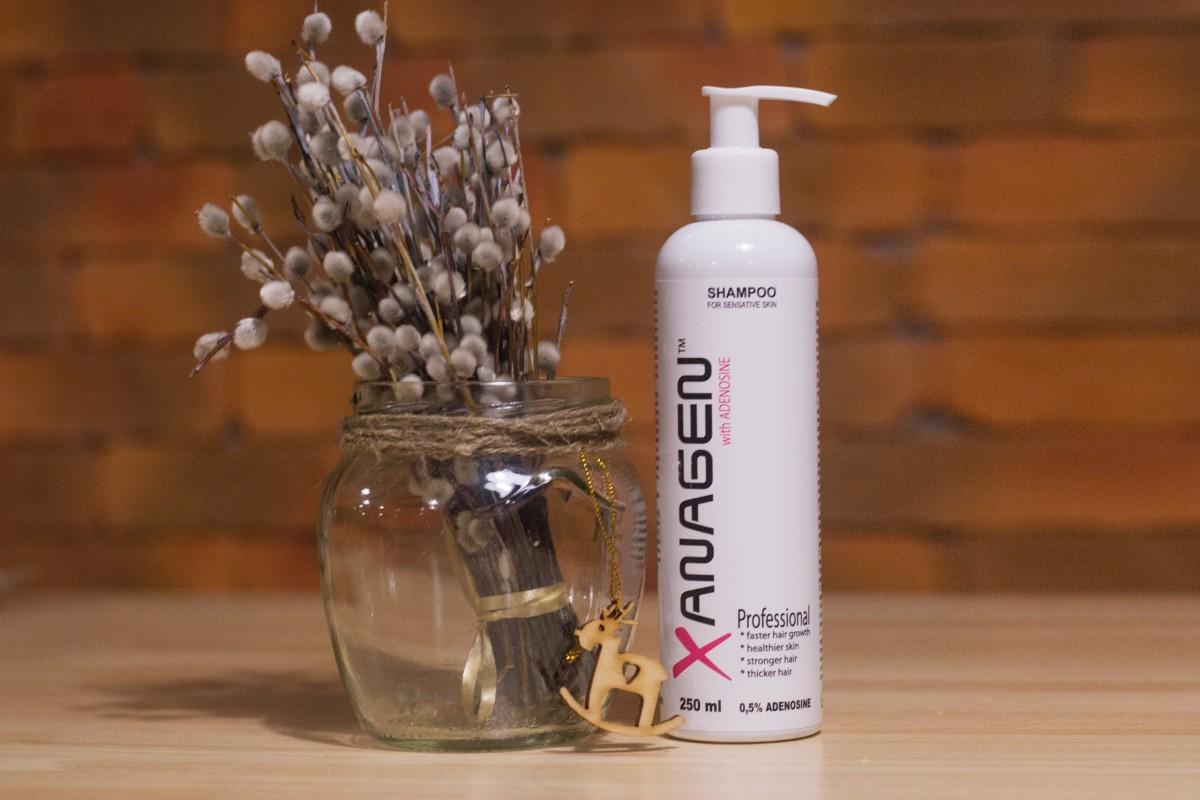 натуральный шампунь для роста и восстановления волос Xanagen