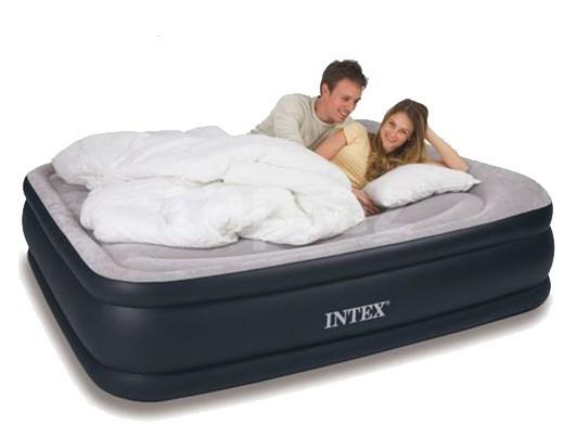 Двухспальная флокированная кровать матрас  Intex 67736