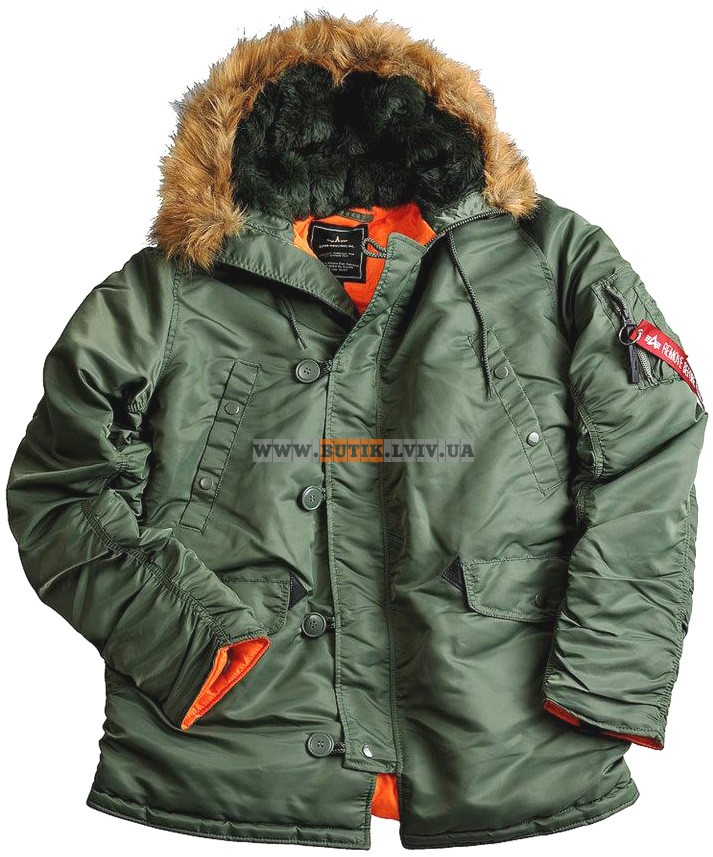 Куртка аляска Slim Fit N-3B Parka Alpha Industries